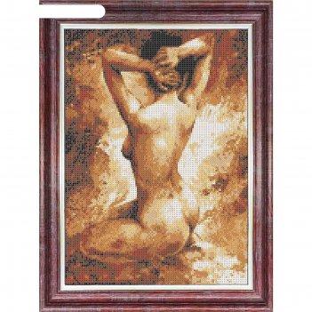 Канва с нанесенным рисунком для вышивки крестом «натурщица», 23х30 см