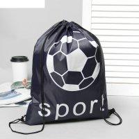 Рюкзак-мешок для обуви sport шнурок, цвет синий