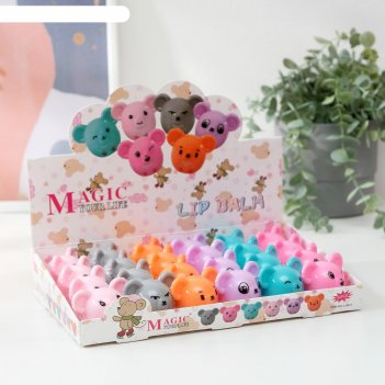 Бальзам для губ мышка 12 грамм, микс цветов и вкусов