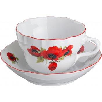 Чайный набор на 1 персону 2 пр. маки 450 мл.