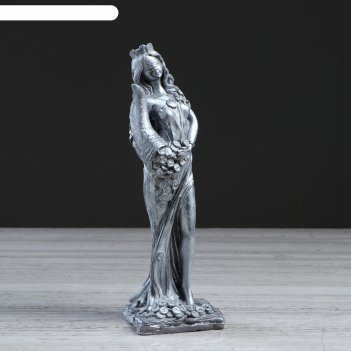 Статуэтка фортуна богиня, серебристый цвет, 30 см