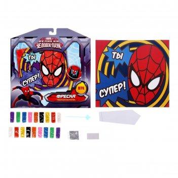 Фреска ты супер, человек паук, с блестками + бонус игра