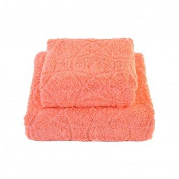 Набор полотенец, размер 50 x 100 см, 70 x 140 см, цвет коралловый