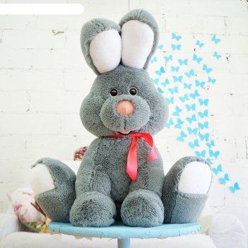 Мягкая игрушка зайчик роджер, цвет дымчатый, 75 см