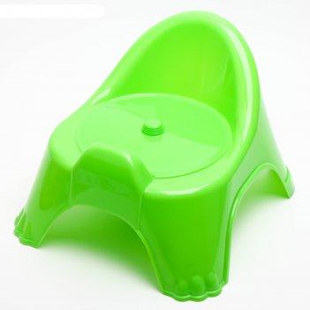 Горшок-стульчик с крышкой, салатовый