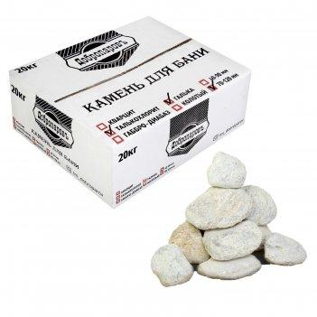 Камень для бани талькохлорит галтованный, добропаровъ коробка 20кг, фракци