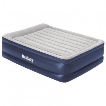 Кровать надувная queen 203 х 152 х 56 см со встроенным электронасосом 6761