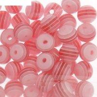 Бусины zlatka акрил str-06 6мм  набор 100±5шт (09 розово-красный)