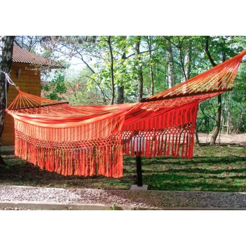 Гамак двухместный kolombus (колумбия) цвет оранжевый