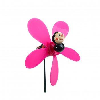 Декор садовый веселая пчела с пропеллером, штекер 60 см, микс цвета