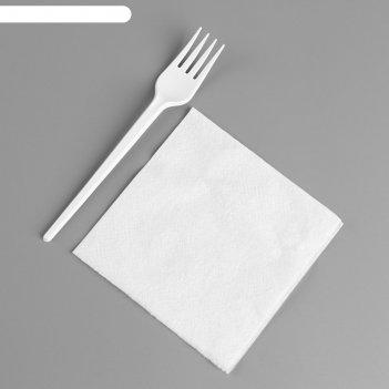 Набор одноразовой посуды «вилка, салфетка»