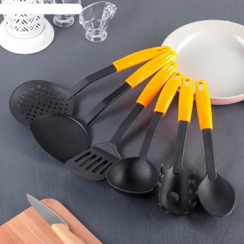 Набор кухонных принадлежностей 6 предметов оранж