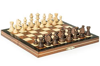 Шахматы деревянные магнитные мини 23х23см