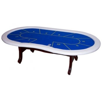 Стол для покера action (10 боксов; синее сукно, белые борта)