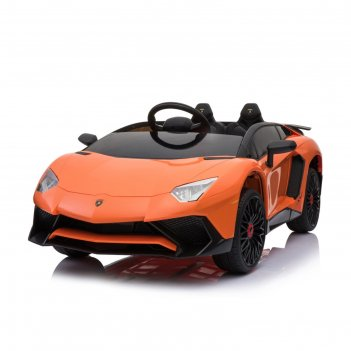 Электромобиль lamborghini aventador sv, eva колеса, цвет оранжевый