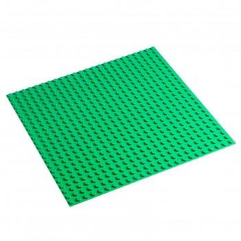 Пластина-основание для конструктора 38,5х38,5 см (диаметр 0,8 см), цвет зе