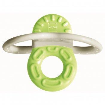 Мини-прорезыватель для передних зубов bite   relax phase 1, цвет зелёный,