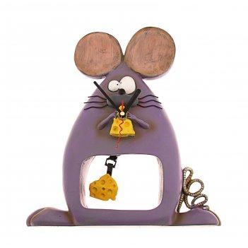 Часы настольные мышка с сыром