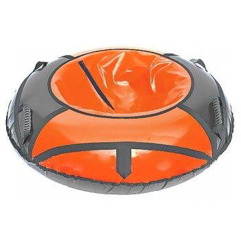 Сноутюб: надувные ватрушки 125см оранжево-серый
