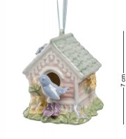 Cms-15/74 фигурка подвесная птичий домик (pavone)
