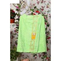 Накидка махровая на липучке «элитная», цвет зелёный, размер 68х33 см