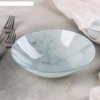 Миска «марбл белый», 740 мл, 18x4,5 см