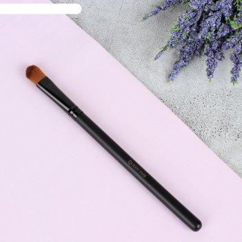 Кисть для макияжа д/ненес теней 16,5см №10/07 скруглен. pvc qf черный