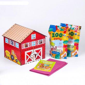 Игровой набор «ферма с домашними животными + методическое пособие»