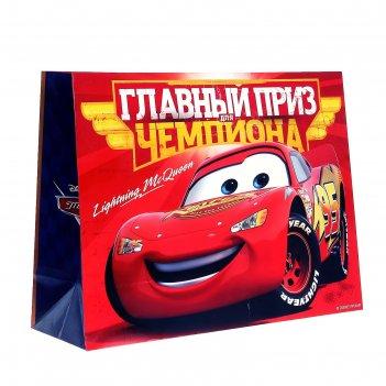 Пакет ламинированный главный приз чемпиона, тачки, 46 х 61 см