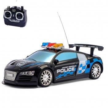 Машина радиоуправляемая «полиция», масштаб 1:24, работает от батареек, све