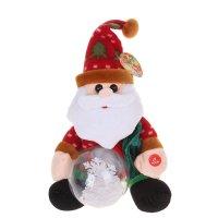 Мягкая игрушка механическая снеговик снежный шар крутится