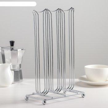 Подставка для кофейных капсул, на 42 штуки, цвет хром