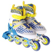 Роликовые коньки раздвижные, abec 7, колеса pu 70 мм, алюминиевая рама, wh