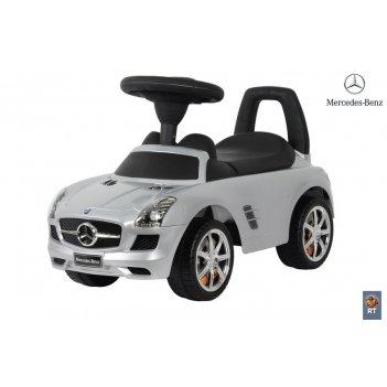 332р каталка-автомобиль mercedes-benz с музыкой — серебро металлик