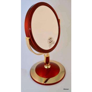 Зеркало b6 806 ruby/g red&gold настольное 2-стор. 5-кр.ув.15