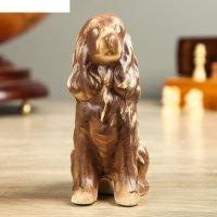 Статуэтка собака спаниель, мини шамот