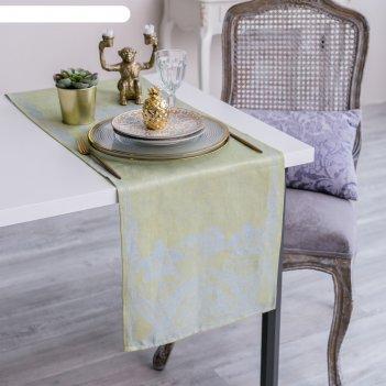 Дорожка на стол этель лён «клеменс» 35x145 ± 3 см, 100% лён