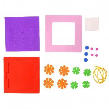 Набор для творчества создай - фоторамку ромбик-цветочки