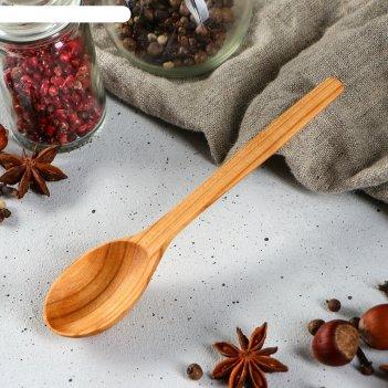 Ложка деревянная столовая, массив черешни, 16х4 см
