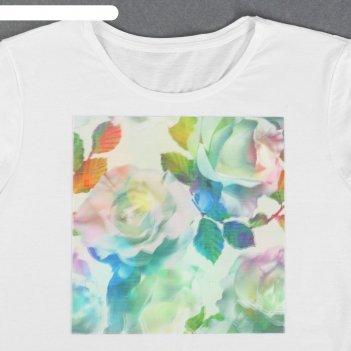 Пришивная аппликация «розы», 3d, 24 x 24 см