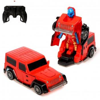 Робот радиоуправляемый джип, трансформируется, работает от батареек, цвета