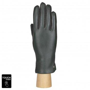 Перчатки женские натуральная кожа/шерсть (размер 6) зеленый