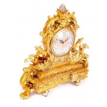 Часы каминные рококо 42*13*41см