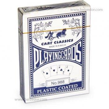 Покерные карты бумажные с пластиковой рубашкой