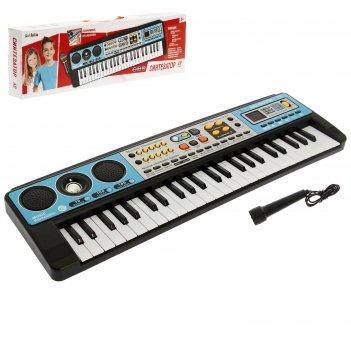 Синтезатор музыкальный взрыв, 49 клавиш с радио, работает от сети