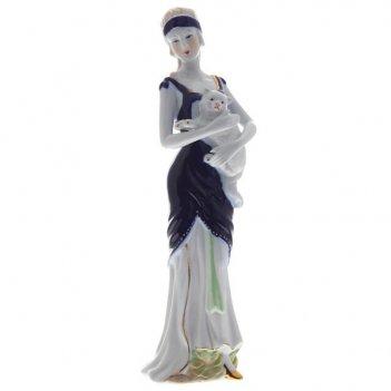 Фигурка декоративная девушка, l8 w6 h29 см