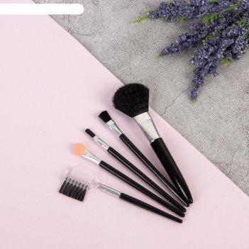 Набор для макияжа, 4 предмета, цвета микс