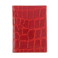 Обложка автодокументы+паспорт, натуральная кожа, скат красный
