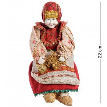 Rk-722/2 кукла-шкатулка бабушка с вязанием