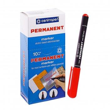 Маркер centropen 2846 перманентный, 1.0 мм, красный